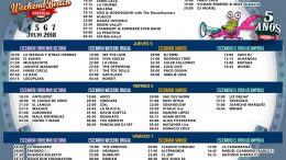 WEEKEND BEACH PRESENTS THE OFFICIAL SCHEDULE OF ITS FIFTH ANNIVERSARY